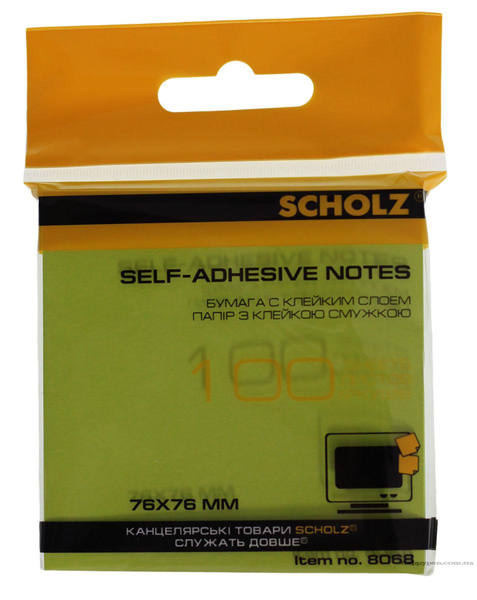 Блок бумаги с клейким слоем 76*76мм.*100 листов, неон., ассорт. Scholz - фото 5
