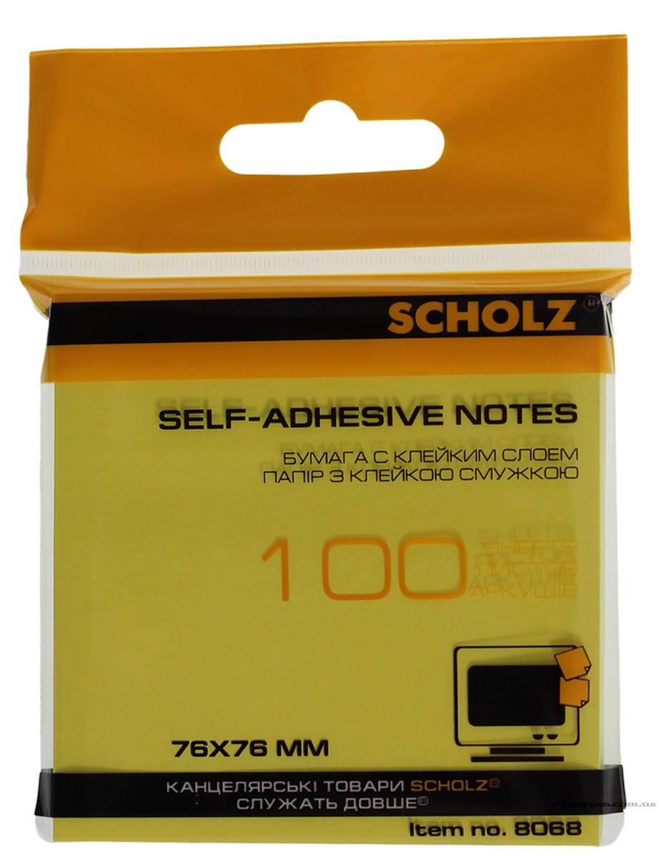 Блок бумаги с клейким слоем 76*76мм.*100 листов, неон., ассорт. Scholz - фото 6
