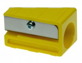 Точилка пластиковая прямоугольная, для карандашей диаметром 11-17мм., ассорт.