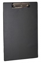 Планшет с верхним прижимом А4, PVC, черн.