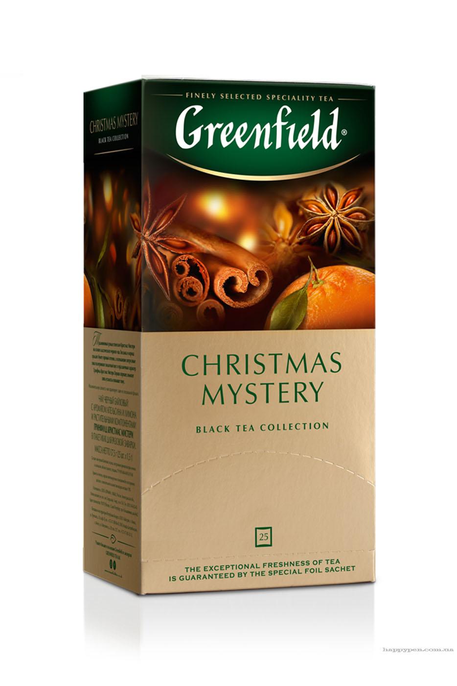 Чай черный ароматизированный Christmas Mystery 25пак. по 1,5гр., термосаше Greenfield - фото 1