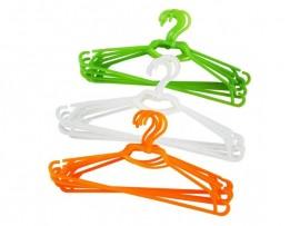 Вешалка пластиковая для легкой одежды, с перекладиной, 44,5см. х 0,5см. х 20см., 5шт./уп.