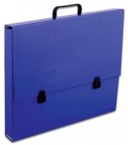 Портфель А3, на 1 отделение картон, с ручкой, темно-син.