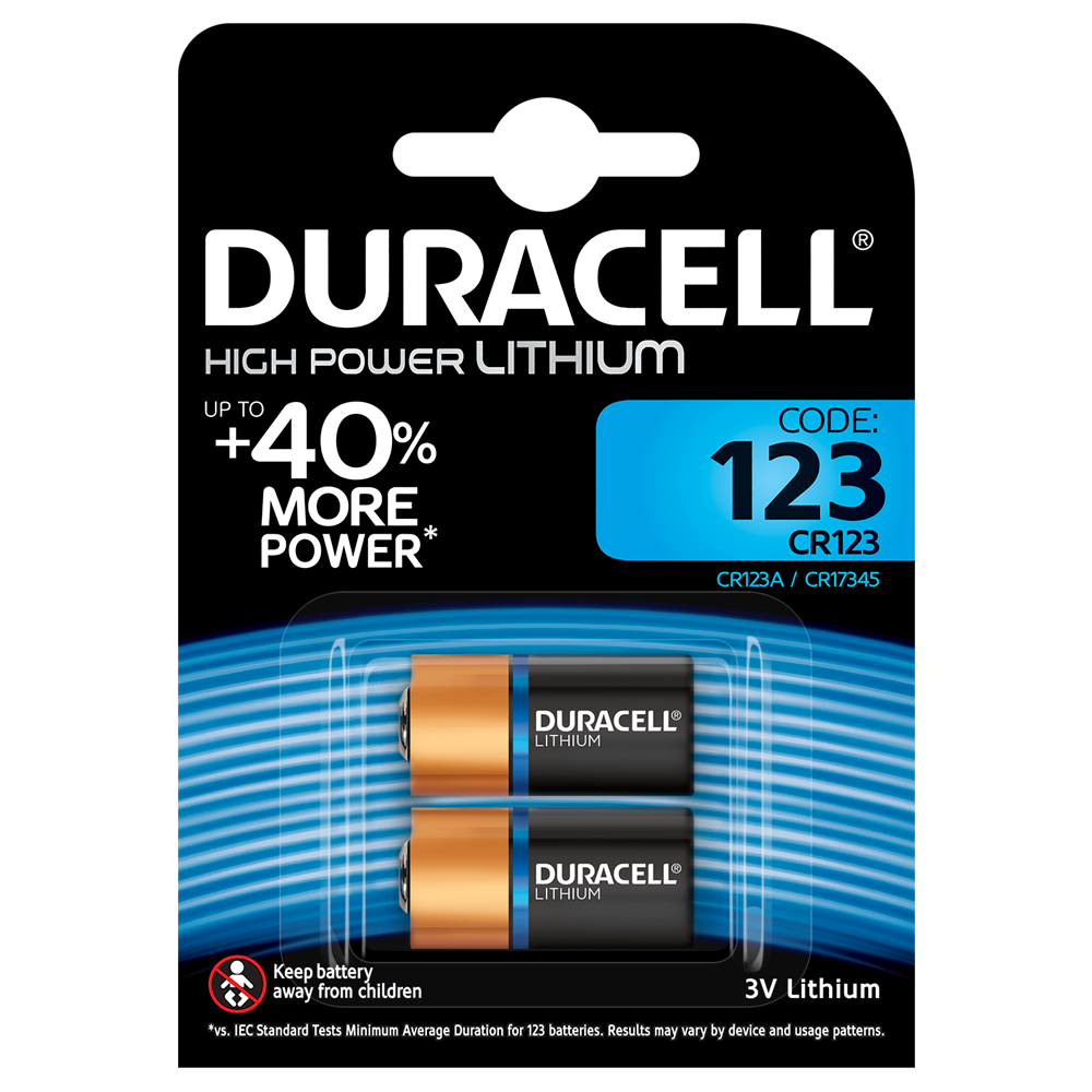 Батарейка DL123A (CR123) Ultra, 3V, 2шт./уп. Duracell - фото 1