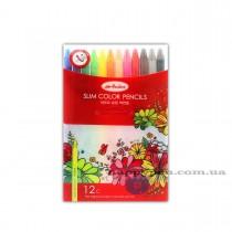 Карандаши цветные механические 12цв. Ardor, длина карандаша 163мм., диаметр стержня 2мм