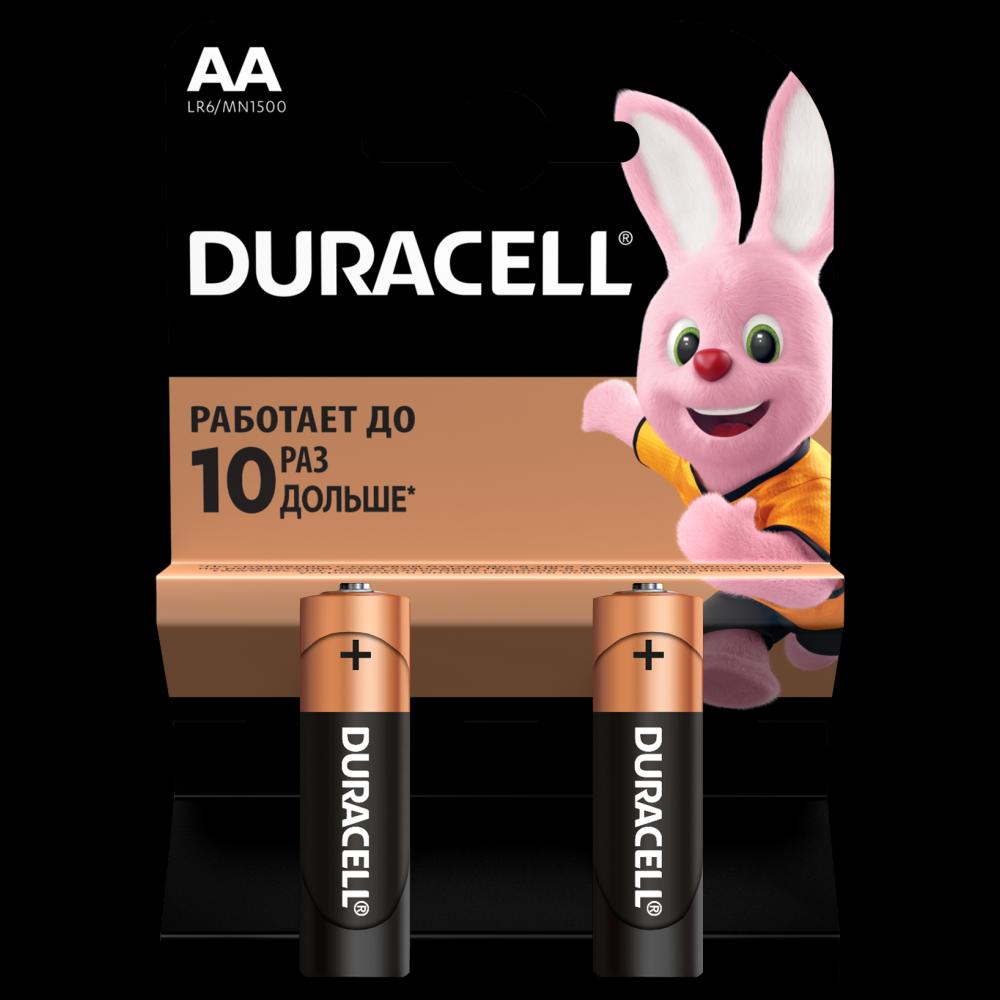 Батарейка LR6 (АА) Basic, 2шт./уп.  Duracell - фото 1