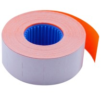 Этикет-лента 26*16мм., прямоугольная, внутренняя намотка, 1000шт./рул., 10рул/уп., оранж.