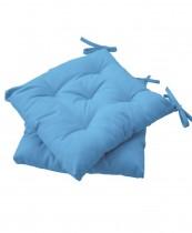 Подушка на стул HALF PANAMA, 40*40см., 100% хлопок, св.-синий