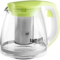 Чайник для заваривания LT7028 стеклянный, 1,5л., салат.