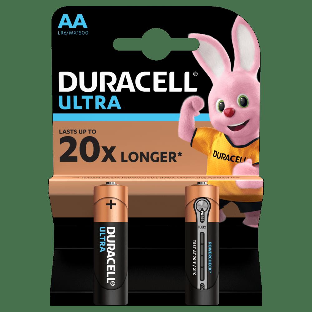 Батарейка LR6 (АА) ULTRA, 2шт./уп. Duracell - фото 1