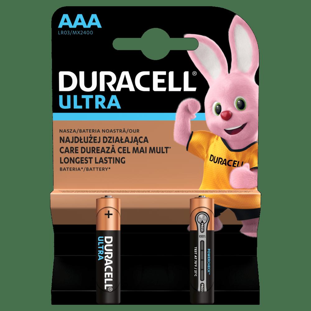 Батарейка LR03 (ААА) ULTRA, 2шт./уп. Duracell - фото 1
