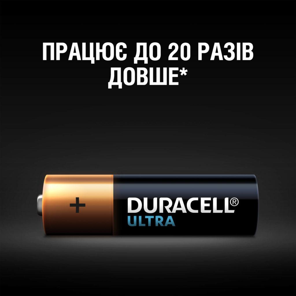 Батарейка LR03 (ААА) ULTRA, 2шт./уп. Duracell - фото 2