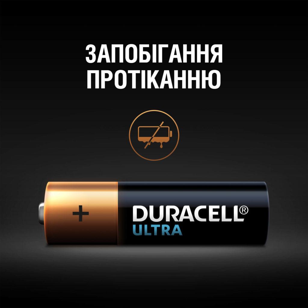 Батарейка LR03 (ААА) ULTRA, 2шт./уп. Duracell - фото 4