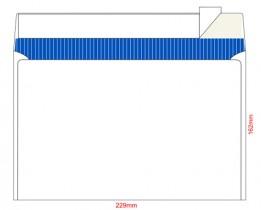 Конверт C5 162*229 отр. лента, фон, 80гр./м2. 100шт./уп., загрузка по длинной стороне