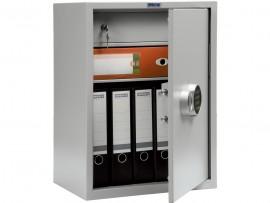 Шкаф бухгалтерский 1полка+отделение с замком, (630*460*340см.) метал., электронный замок