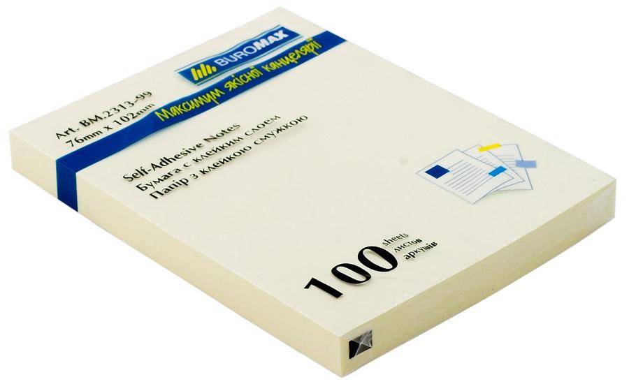Блок бумаги с клейким слоем 102*76мм.*100 листов mix BuroMax - фото 2