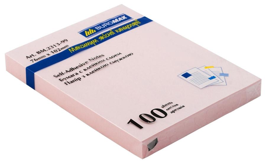 Блок бумаги с клейким слоем 102*76мм.*100 листов mix BuroMax - фото 3