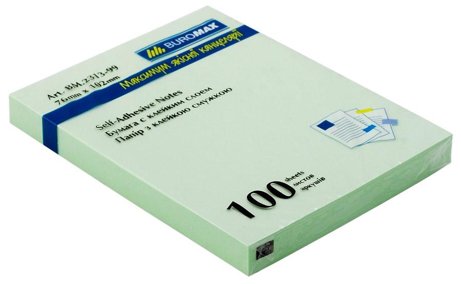 Блок бумаги с клейким слоем 102*76мм.*100 листов mix BuroMax - фото 4