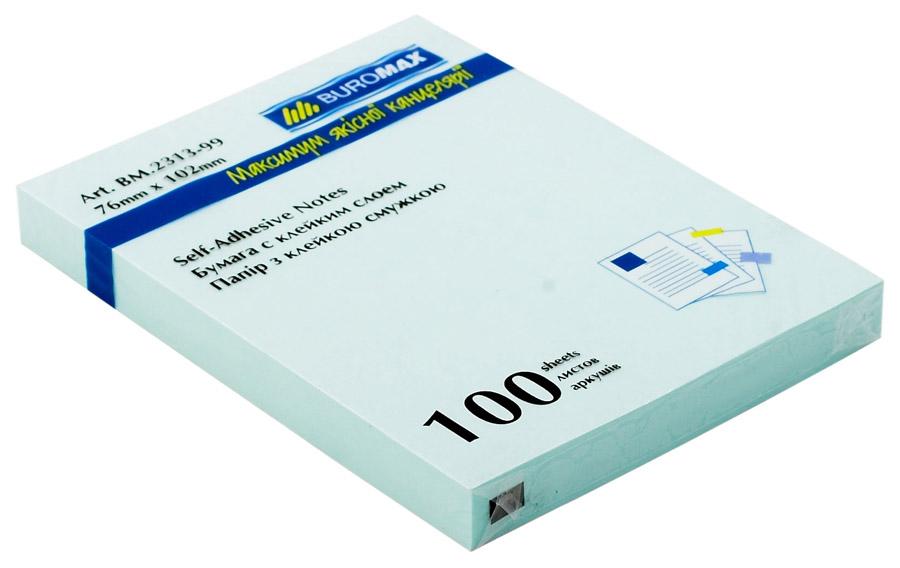 Блок бумаги с клейким слоем 102*76мм.*100 листов mix BuroMax - фото 5
