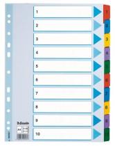 Разделитель страниц цифровой 1-10 Mylar картон.