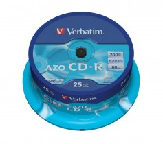 Диск CD-R 700 Mb/80 min 52x 25шт./уп. Cake Box