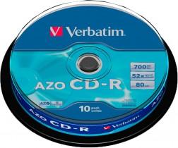 Диск CD-R 700 Mb/80 min 52x 10шт./уп. Cake Box