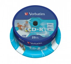 Диск CD-R 700 Mb/80 min 52x 25шт./уп. Cake Box Printable