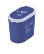 Точилка пластиковая, с контейнером, 2 отверстия