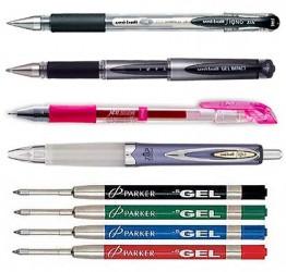 Ручки гелевые, стержни