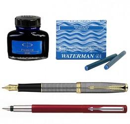 Ручки перьевые, картриджи и чернила