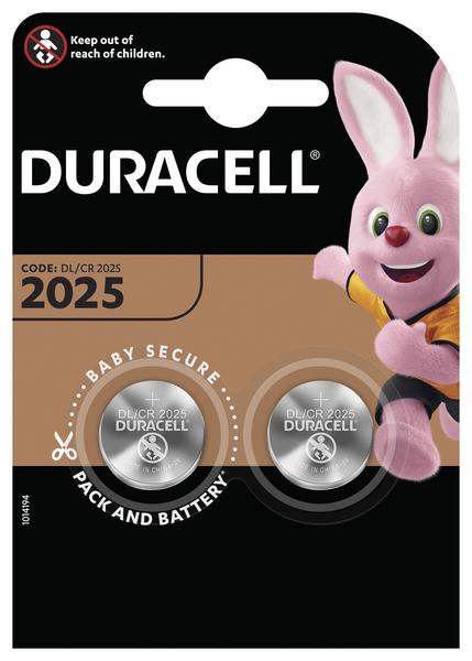Батарейка DL2025 (CR2025) DSN, 3V, 2шт./уп. Duracell - фото 2