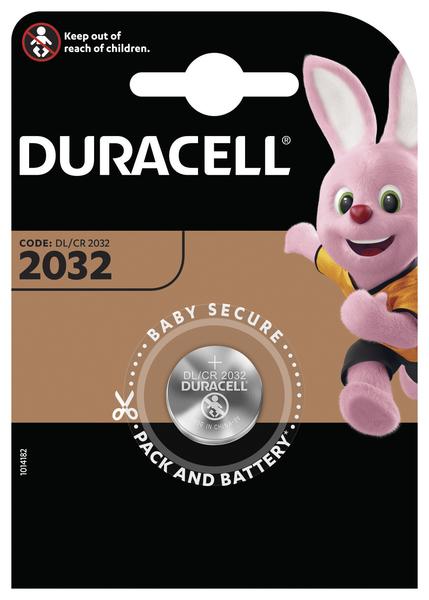 Батарейка DL2032 (CR2032) DSN, 3V Duracell - фото 2
