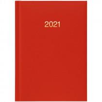 Ежедневник датированный карманный 2021 Miradur, золот. тиснение, красн.