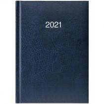 Ежедневник датированный карманный 2021 Miradur, сереб. тиснение, син.
