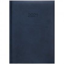 Ежедневник датированный карманный 2021 Torino, слепое тиснение, син.