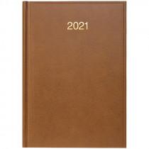 Ежедневник датированный Стандарт 2021 Miradur, золот. тиснение, коричн.