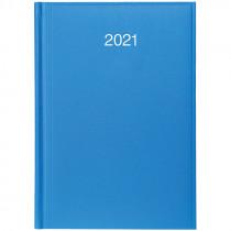 Ежедневник датированный Стандарт 2021 Miradur, сереб. тиснение, голуб.