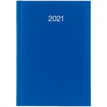 Ежедневник датированный Стандарт 2021 Miradur, сереб. тиснение, ярко-син.