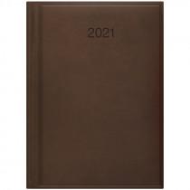 Ежедневник датированный Стандарт 2021 Torino, слепое тиснение, коричн.