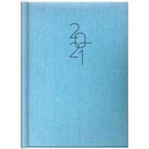 Ежедневник датированный Стандарт 2021 Tweed, голуб.