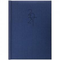 Ежедневник датированный Стандарт 2021 Tweed, син.