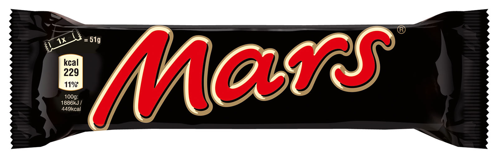Батончик шоколадный Марс 51г. MARS - фото 1