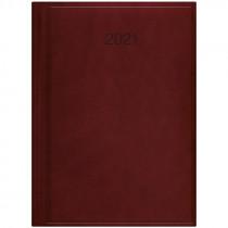 Ежедневник датированный Стандарт 2021 Torino, слепое тиснение, марсала