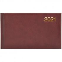 Еженедельник датированный карманный 2021 Miradur, золот. тиснение, борд.