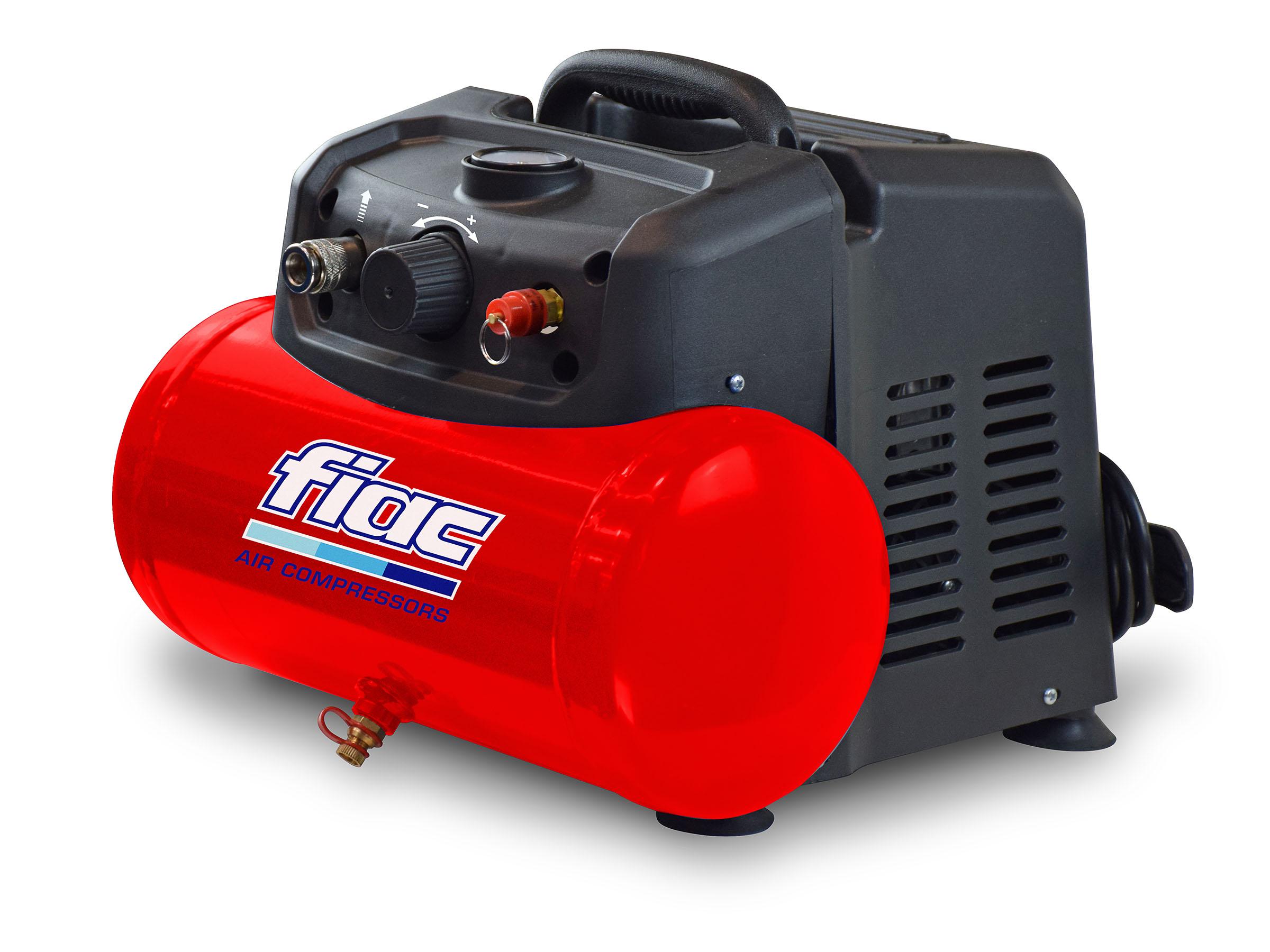 Безмасляный компрессор поршневой прямоприводный CUBY 6/1100 FIAC (ресивер 6 л, пр-сть 160 л/мин) FIAC - фото 1