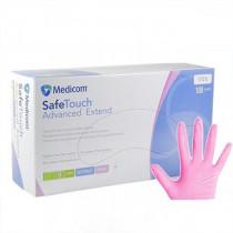Перчатки нитриловые неопудренные, S, 100шт./уп. SafeTouch, розов.