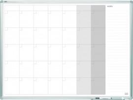 Доска белая магнитная планер на месяц ALU23 120*90см., алюминиевая рамка, лак