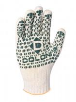Перчатки вязаные трикотажные Стандарт, ладошка-точка, двойная плотность, 7 класс