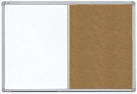 Доска комбинированная магнитная сухостираемая/пробковая ALU23 90*120см., алюминиевая рамка, лак