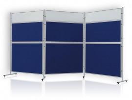 Доска модерационная 120х60см., текстильная, алюминиевая рамка